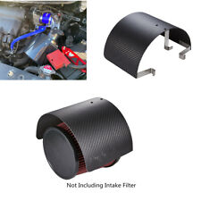 1Pcs 2.5-5.5in Steel Carbon Fiber Style Car Air Filter Intake Heat Shield Cover