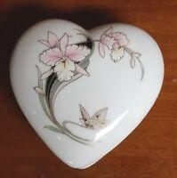 Heart Trinket Box Porcelain Fine China Japan