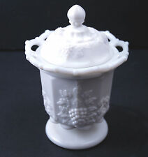 Westmoreland Milk Glass Paneled Grape Spooner Bowl