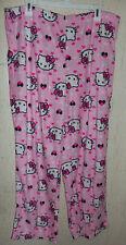 NWT WOMENS Hello Kitty PINK SUPER SOFT FLEECE PAJAMA / LOUNGE PANTS   SIZE XL