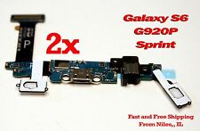 Lot 2 HQ Samsung Galaxy S6 SM-G920P Sprint USB Charging Port Dock Flex Cable 2x