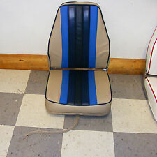 Highback Deluxe Fold-Down Seat (Tan w/ Blues)