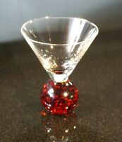 A Beautiful Vintage Paperweight Martini Glass