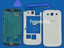 For Samsung Galaxy SIII S3 I9300 Full Housing Back Cover Front Frame Bezel White