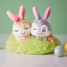 Disney Store Authentic Thumper & Miss Bunny Easter Basket Mini Plush Set New