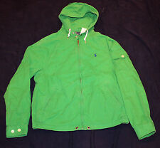 BRAND NEW $145 Polo RALPH LAUREN JACKET S SMALL cotton hood green men's pony NWT