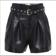 RED VALENTINO PLEATED LEATHER SHORTS...SZ 42...$1295