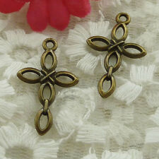 free ship 70 pieces bronze plated cross charms 28x17mm #2523
