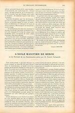 Asile Maritime Berck-sur-Mer Portraits Francis Tattegrain GRAVURE OLD PRINT 1905