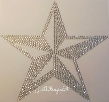Western Nautical Star Hot Fix Rhinestone Iron On Transfer Bling MADE IN USA