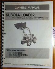Kubota Kub219 Loader For B6100 B7100 Tractor Owners Operators Amp Parts Manual