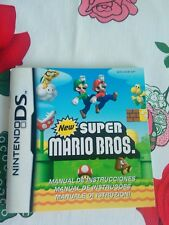 Manual New Super Mario DS (NO JUEGO ) NINTENDO DS NDS DSI 3DS  PAL