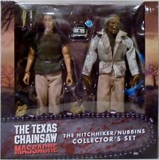 "THE HITCHHIKER / NUBBINS The Texas Chainsaw Massacre 8"" Figure Set Neca 2018"