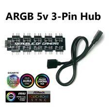 More details for 5v 3pin argb splitter for rgb gaming pc fans - gpu brackets - led strips etc