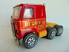 BUDDY L CAMION POMPIER FIRE DEPT SEMI TRUCK MACK - TINTOY 15CM MADE IN JAPAN