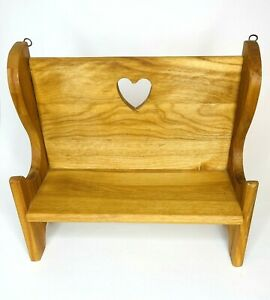 """Handmade Wood Doll Bench Shelf Plant Stand Hanging or Free Standing 10"""" x 11"""""""
