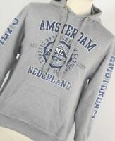 Logo Star Grey Graphic Cotton Blend Mens Hoodie Size S