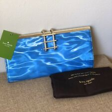 NEW Kate Spade Pool Party Clutch Bag Purse Pool Beach Water Cruise Boat Blue NWT