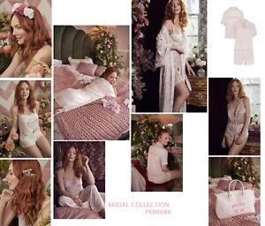 Primark Bride Bridal Wedding Pyjamas robe underwear bridesmaid