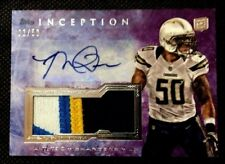 2013 Topps Inception Manti Te'o Teo RC 4 Color PATCH AUTO 01/50 !!  SAINTS