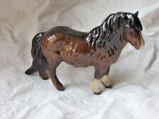 Beswick brown gloss woolly Shetland pony, Model 1033