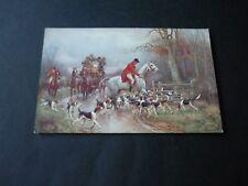 Artist drawn Hunting postcard, Faulkner Series 973