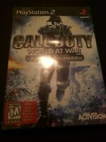 --Call Of Duty World At War Final Fronts-Sony Playstation 2 ps2, complete--