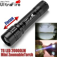 Ultrafire 20000LM ZOOM 3Mode XML T6 LED Lamp Flashlight Torch+18650+Charger+Case