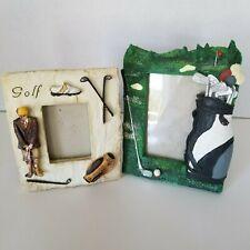 GANZ Golf Novelty Resin Picture Frames Lot of 2