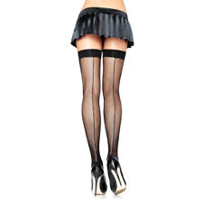 Leg Avenue Fishnet Thigh Highs With Backseam 9112 Black