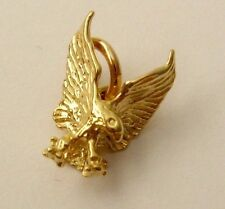 GENUINE SOLID  9K  9ct  Yellow  GOLD  3D  EAGLE  ANIMAL BIRD Charm/PENDANT