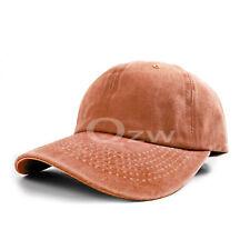 Unisex Polo Style Baseball Cap Ball Hat Adjustable Plain Solid Washed Cotton Men