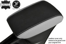BLACK & GREY LEATHER ARMREST COVER FITS VAUXHALL OPEL ASTRA K MK7 2016+