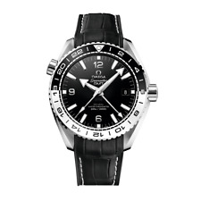 Omega Seamaster Planet Ocean Master CRONOMETRO GMT 43.5 mm-mai indossato con box & Papers