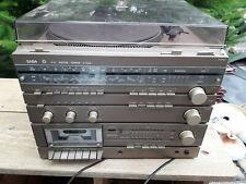 Alte Musikanlage, Center 7300 HIFI SYSTEM von SABA, Plattenspieler, Kassette