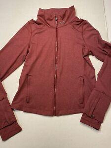 Under Armour Women's UA Poly Blend Full Zip Jacket Garnet Size Medium Thumb Hole