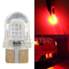 10x Red T10 194 168 W5W COB 8 SMD LED CANBUS Silica License Light Bulb