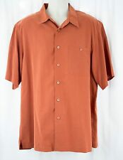 Indigo Palms Camp Shirt Tommy Bahama Size XL Soft Fabric Orange