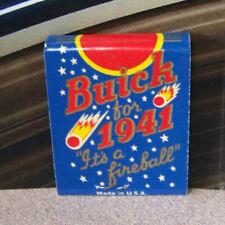 Vintage Matchbook V5 Salt Lake City Utah Arch Browning 1941 Buick Car Fireball