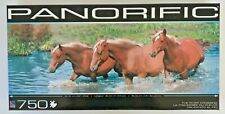 Sure-Lok PANORIFIC The River Crossing 750 pc. Horse Jigsaw Puzzle NEW in BOX