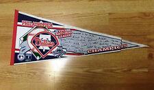 1993 National League Champions Philadelphia Phillies MLB Felt Pennant Trench MLB