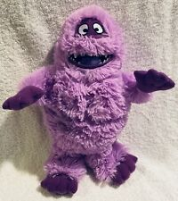 """Rare Rudolph the Red Nosed Reindeer Abominable Snowman Plush Toy Purple 12"""""""
