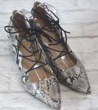 M&S Limited Collection Snakeskin Style Lace Grille Court Shoes Size UK 8 Insolia