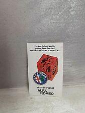 ADESIVO ' ALFA ROMEO - RICAMBI ORIGINALI ALFA ROMEO ' 9,5x6 CM VINTAGE