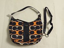 Coach Signature Stripe Linear Signature Convertible Hobo F23936 New with Tag