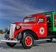 RARE - 1937 CHEVY STAKE TRUCK with LOAD -  TEXACO TIRE & LUBE  - First Gear