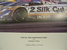 "1988 Jaguar ""The Competition Years"" by Watts Signed LeMans XJR-9LM"