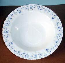 """Royal Albert Memory Lane Rim Soup Bowl 8"""" Blue Floral Bone China New"""