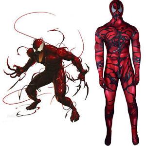 Venom 2 Carnage Jumpsuit Cletus Kasady Cosplay Costume For Adult Kids Halloween