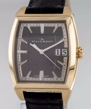 Villemont Aston T Fecha Grande 18Ct Oro Amarillo Reloj Automático Serial #10003